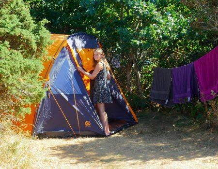 Camping i telt