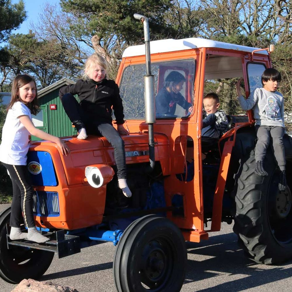 Den orange traktor